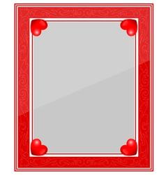 Designer Red Photo Frame vector image vector image