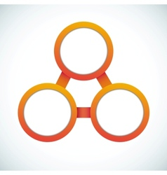 Empty color circle vector image vector image