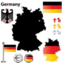 Germany flag small vector image vector image