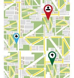 Map navigation background vector image