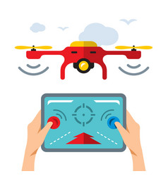 quadrocopter flat style colorful cartoon vector image