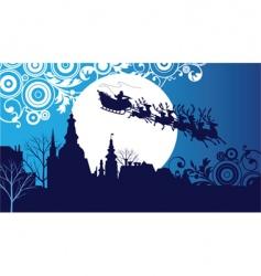 Santa's sleigh vector image