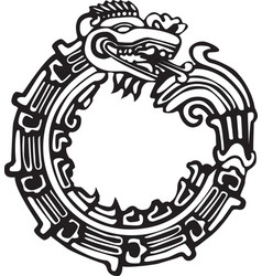 Aztec maya dragon - great for tatto art vector