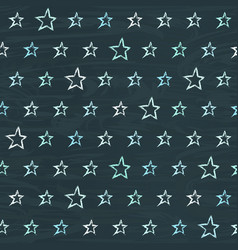 chalkboard seamless pattern with hand drawn stars vector image vector image