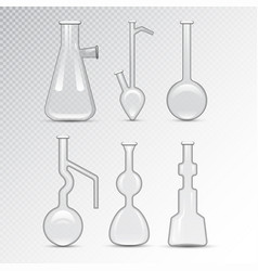 Chemical laboratory 3d lab flask glassware tube vector