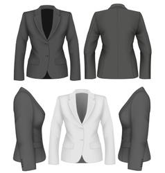 Ladies suit jacket vector image vector image