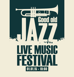 poster for the jazz festival vector image