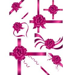 ribbons and bows vector image vector image
