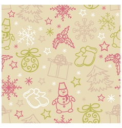 Seamless pattern of Christmas items vector image