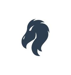 Vulture logo on white background vector image