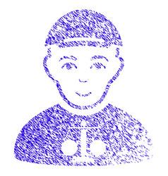 Judge icon grunge watermark vector
