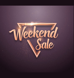 sale lettering rose gold effect vector image