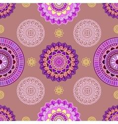 Seamless mandala pattern vector image
