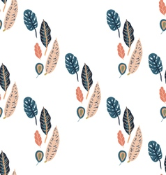 Trendy seamless pattern with forest plants vector image vector image