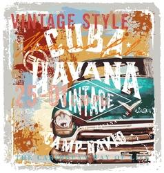 Vintage cuba style vector image vector image