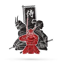 3 samurai composition vector