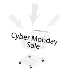 A Shopping Cart on Cyber Monday Promotion vector