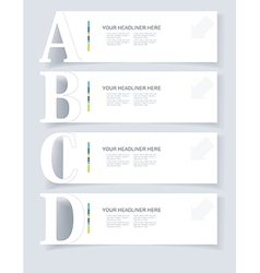 Abstract infographics Option Banners Set vector image