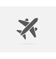 Aircraft or airplane icon silhouette vector