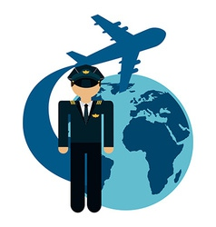 airplane pilot vector image
