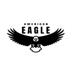 american eagle flying bird logo symbol vector image