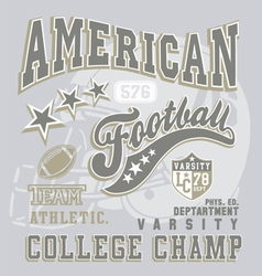 american football college champ vector image