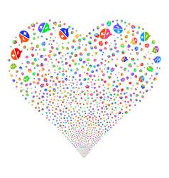 Arguments fireworks heart vector
