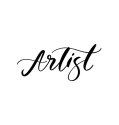 artist fashion logo text lettering vector image