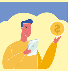 Banker investor accounter vector