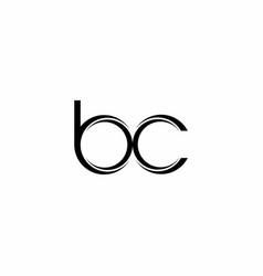 bc logo monogram with slice rounded modern design vector image