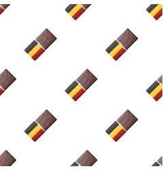Belgian chocolatethe dark belgian wolf belgiu vector