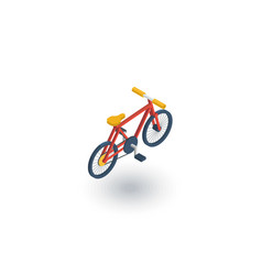 Bicycle bike isometric flat icon 3d vector