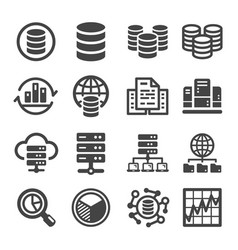 Bigdata icon vector