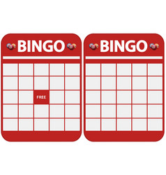Blank bingo cards vector