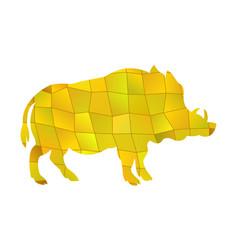 boar yellow vector image