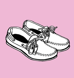 Boat Shoes vector