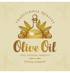 bottle olive oil vector image