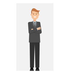 businessman office worker man vector image