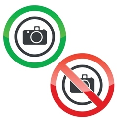 Camera permission signs vector