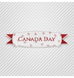 Canada Day greeting Tag with Ribbon vector