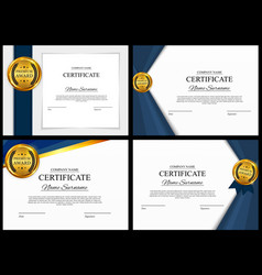 certificate template background collection set vector image