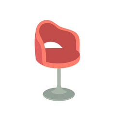 Chair furniture of spa salon office icon vector