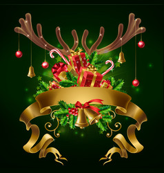 christmas party invitation card template vector image