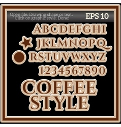 Coffee Graphic Style for Design vector