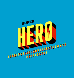 Comics style font design alphabet letters and vector