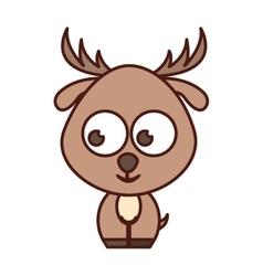 Cute reindeer tender character vector