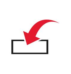 download icon upload load sign symbol vector image