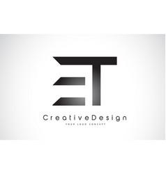 Et e t letter logo design creative icon modern vector