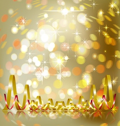 festive gold background vector image