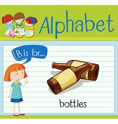 Flashcard alphabet B is for bottles vector